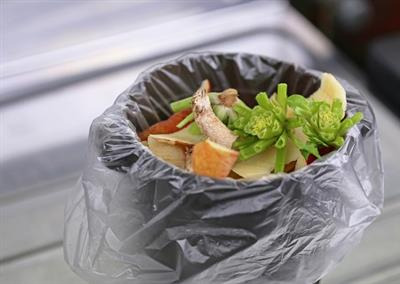 Should you put your food waste in a compostable plastic bag?